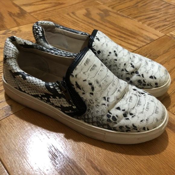 Vince Camuto Snakeskin Slip On Sneakers